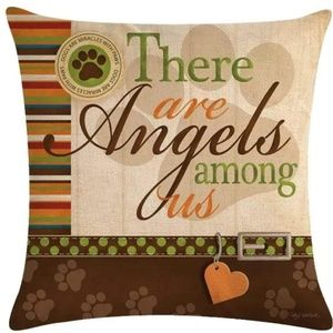 Other - Pillow Cover- New- Dogs Are Angels Among Us